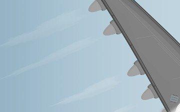 вектор, крыло, турбины