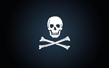 фон, кости, пиратская эмблема