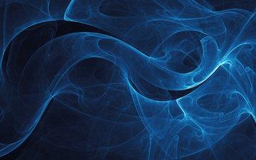 черный фон, владстудио, синие линии
