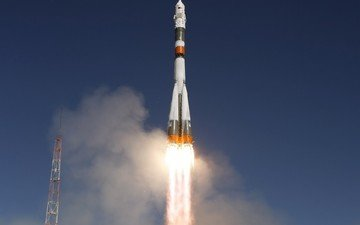 flame, rocket, start, soyuz tma-16