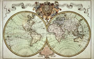 карта, путешествия, старая