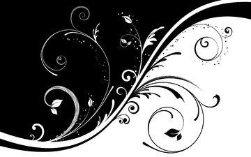 узор, черно-белая, завитки