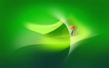 зелёный, семерка, винда