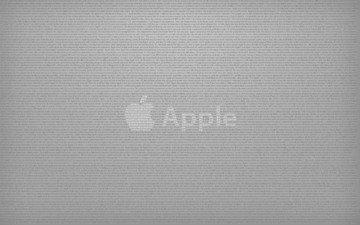 серый, надписи, эппл