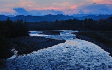 река, япония, японии, satsunaigawa river