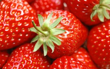 summer, food, strawberry, red, berries