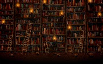 библиотека, уют, книжные полки, лесенки