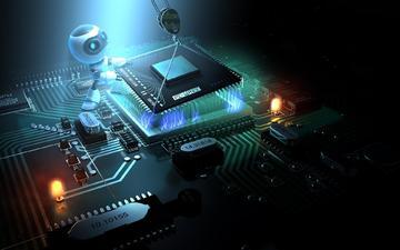 робот, материнка, процессор, демонтаж