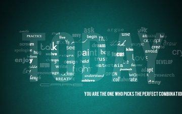 обои, слова, буквы, минимализм, креатив