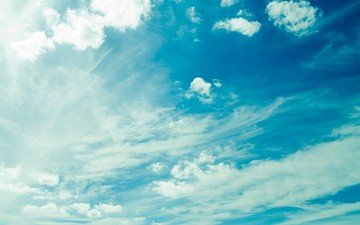 небо, свет, облака, голубой