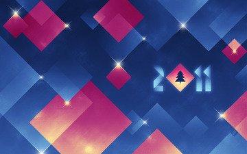 новый год, елка, абстракция, зима, праздник, 2011 год, happy hollidays, минимаизм, с новым годом