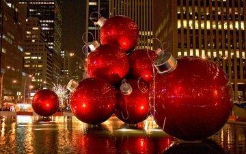 шары, улица, новый, год