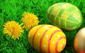 пасха, яйца, цветки, pascha, воскресе__ние христо__во