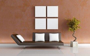 растения, стиль, дизайн, квартира, дом, задумка, идея, диван, комфорт
