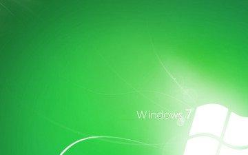 обои, линии, зелёный, стиль, windows seven 7 wallpapers, компы, green style