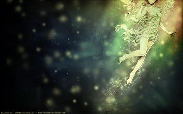 свет, ангел, ветер, крылышки