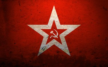 ссср, звезда, красный, серп и молот