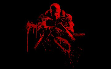 оружие, кровь, crysis, warhead