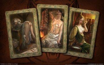 карты, девушки, ведьмак
