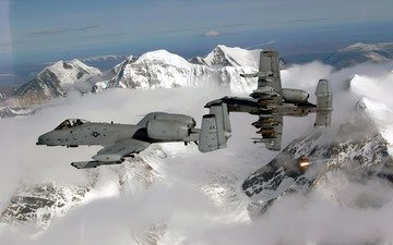 mountains, snow, flight, aircraft