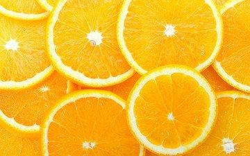 фрукты, апельсины, оранжевый, косточка