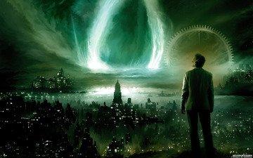ночь, города, фантастика, ситуации