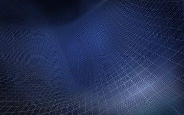 фон, синий, цвет, сетка, квадраты, клетка, рельеф, 3д