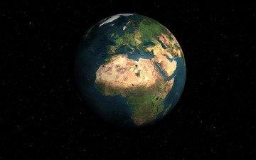 космос, планета земля, в звёздной системе
