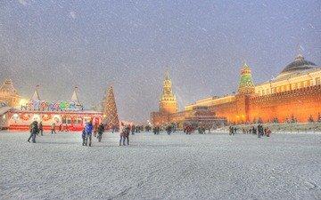 новый год, москва, красная площадь, встреча нового года