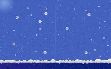 новый год, снежинки, фон