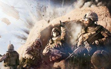 война, солдат, взрыв, operation flashpoint red river