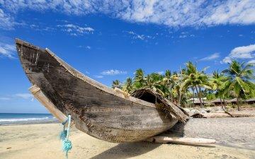 вода, берег, обои, фото, пейзаж, море, песок, пляж, лето, побережье, лодка, океан, рай, песка, взляд, гаваи, берег моря, летнее, тропический рай