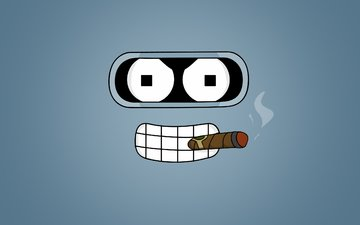 look, futurama, cigar, bender