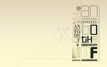 линии, стиль, буквы, надписи, шрифт, прямые, окружности