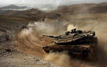 desert, tank, dust