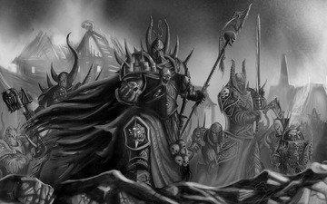 оружие, мечи, warhammer 40k, броня, доспехи, орды, хаоса, последователи, тзинча, тысяча сынов