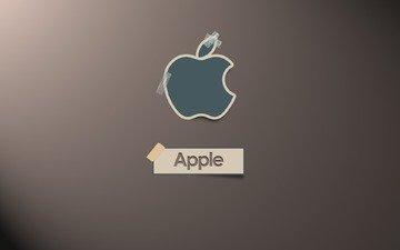 лого, скотч, эппл