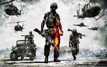 поле боя, вьетнам, bad company2, дичь