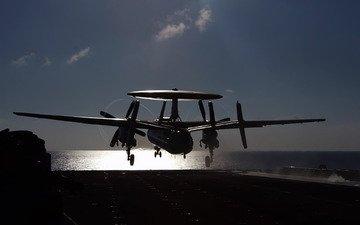 самолет, авианосец, дрло