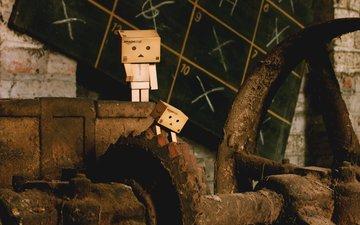 robot, dust, rust, danbo