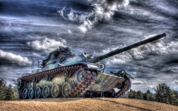 the sky, tank, caterpillar