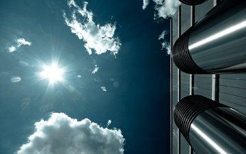 будущего, неба, urban