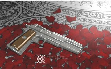 weapons, petals, gun, vampire knight