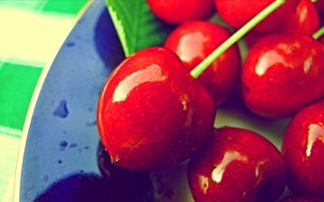 макро, ягоды, вишня