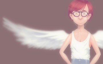рисунок, крылья, ангел, майка, задрот