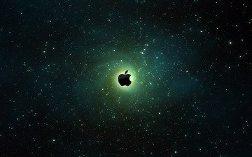 космос, галактика, эппл