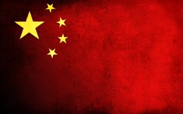 грязь, звезды, красный, флаг, китай