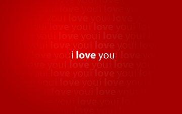 обои, настроение, слова, красный, креатив, любовь, краcный, minimalistic wallpapers, creative pictures, я люблю тебя