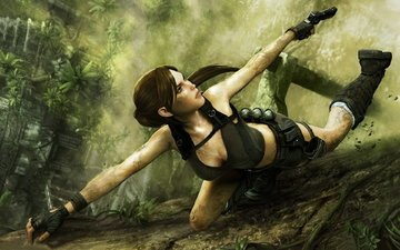 пистолет, джунгли, лара крофт