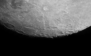the moon, satellite, saturn